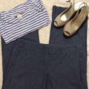 J. Crew denim trousers